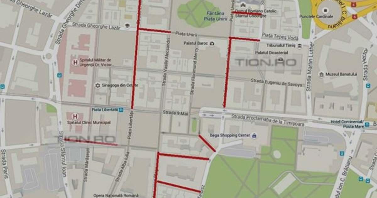Biciclistii Interzisi Si In Pietele Unirii Si Libertatii Harta