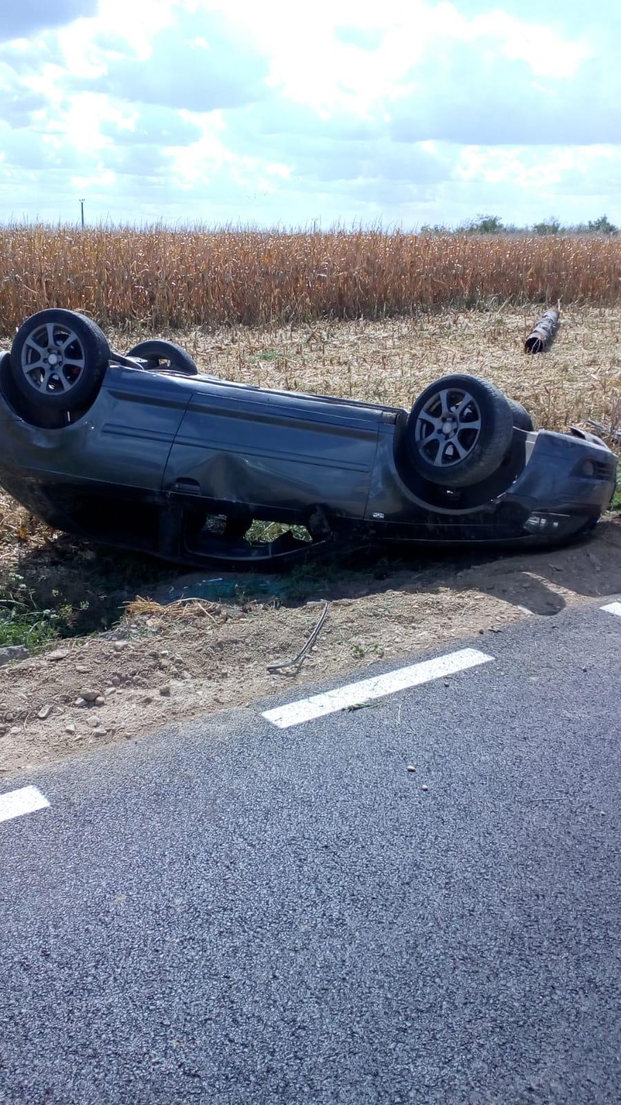 Accident spectaculos în Timiș