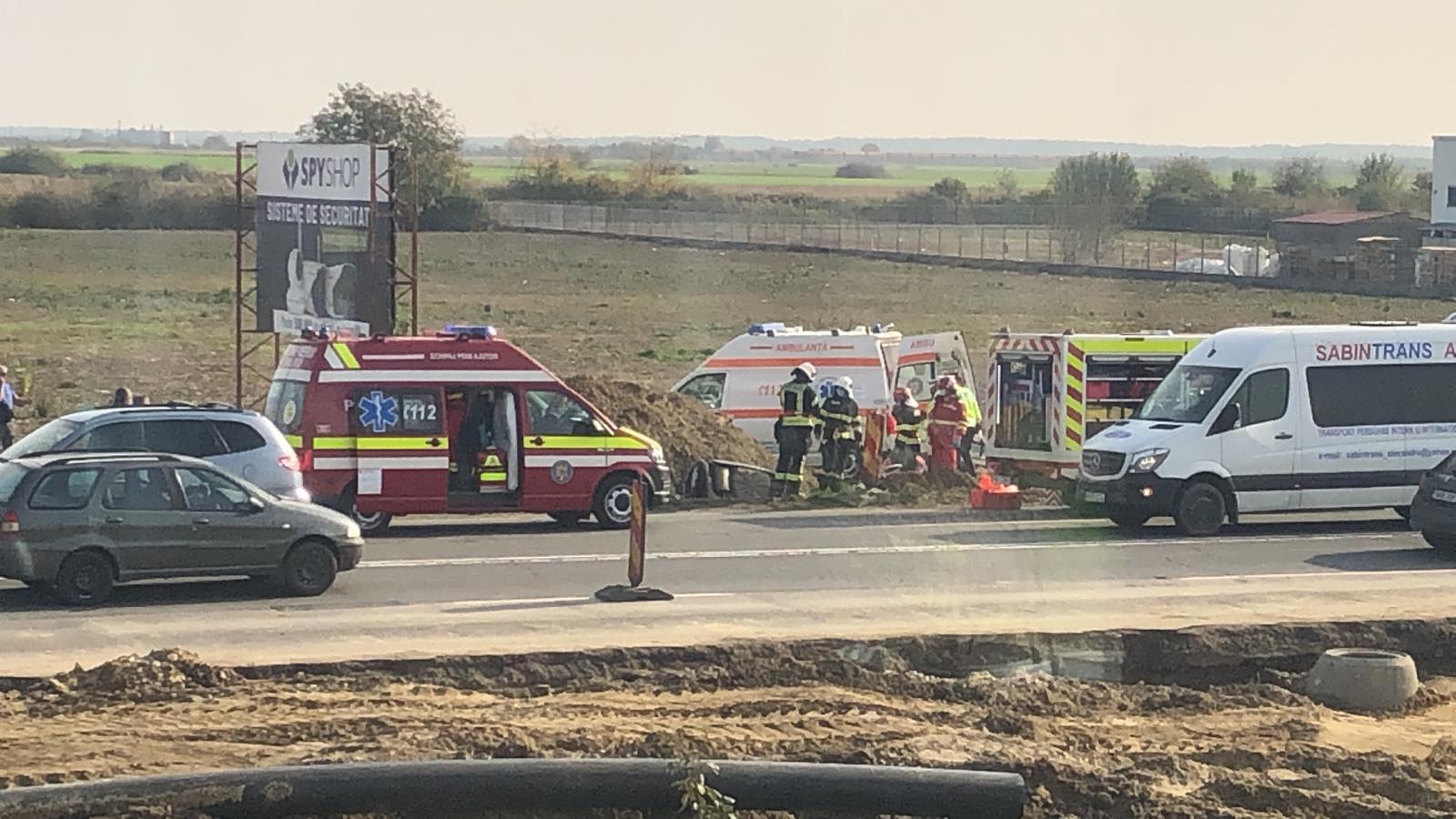 Accident cu două victime în Calea Șagului din Timișoara