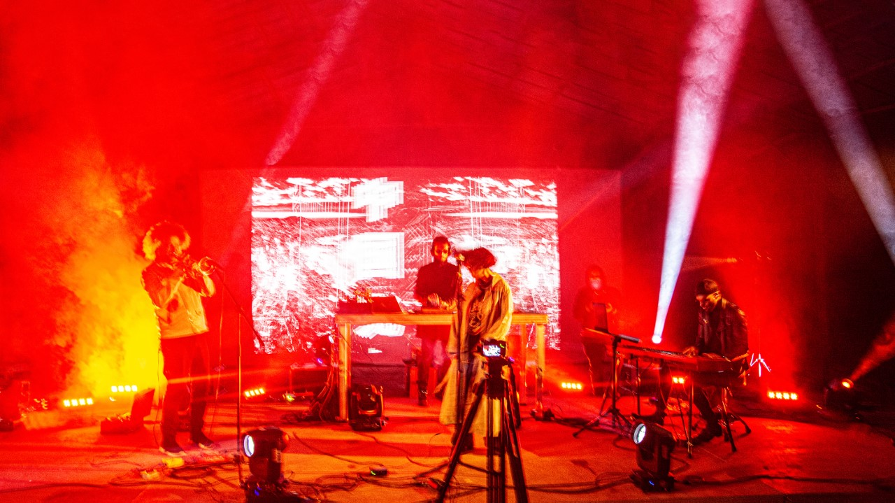 Thy Veils live at Simultan Festival XV: Petre Ionuțescu, Daniel Dorobanțu, Alira Mun, Marcelle Poaty-Souami. Foto: Anita Ramona