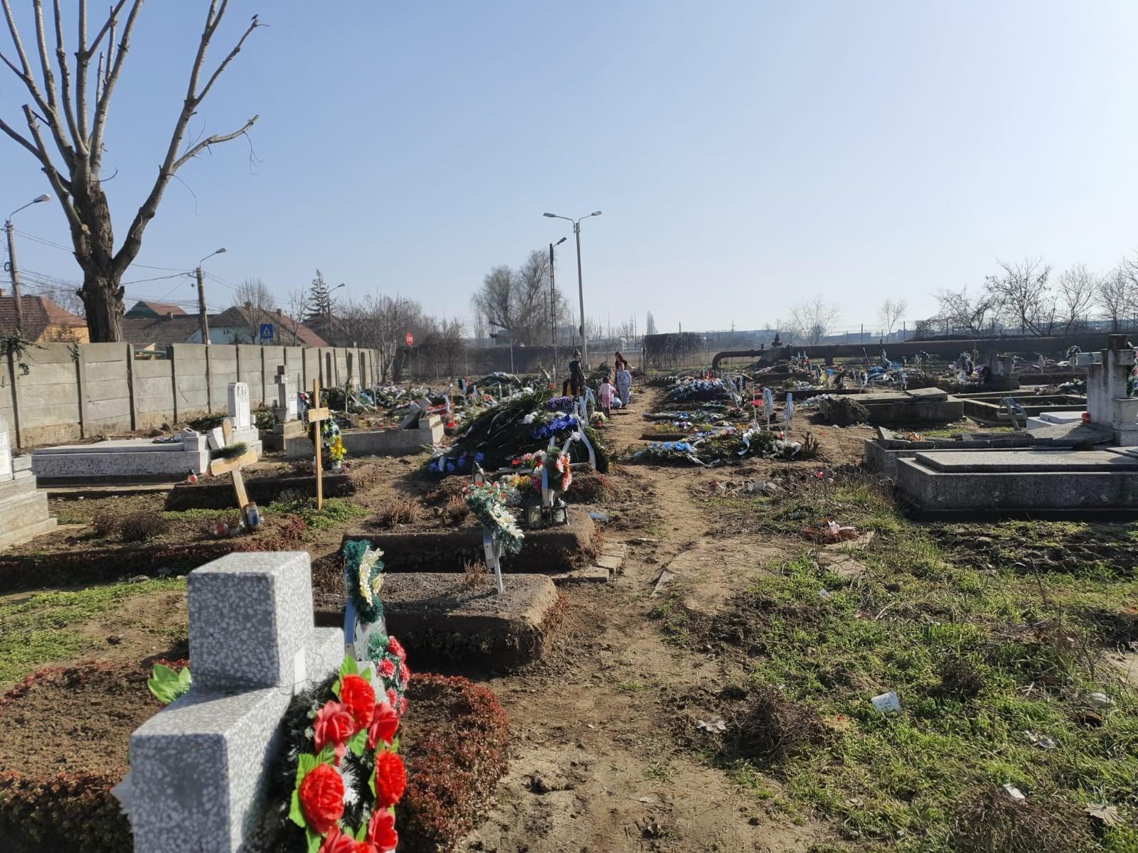 Dezastru în unele cimitire din Timișoara