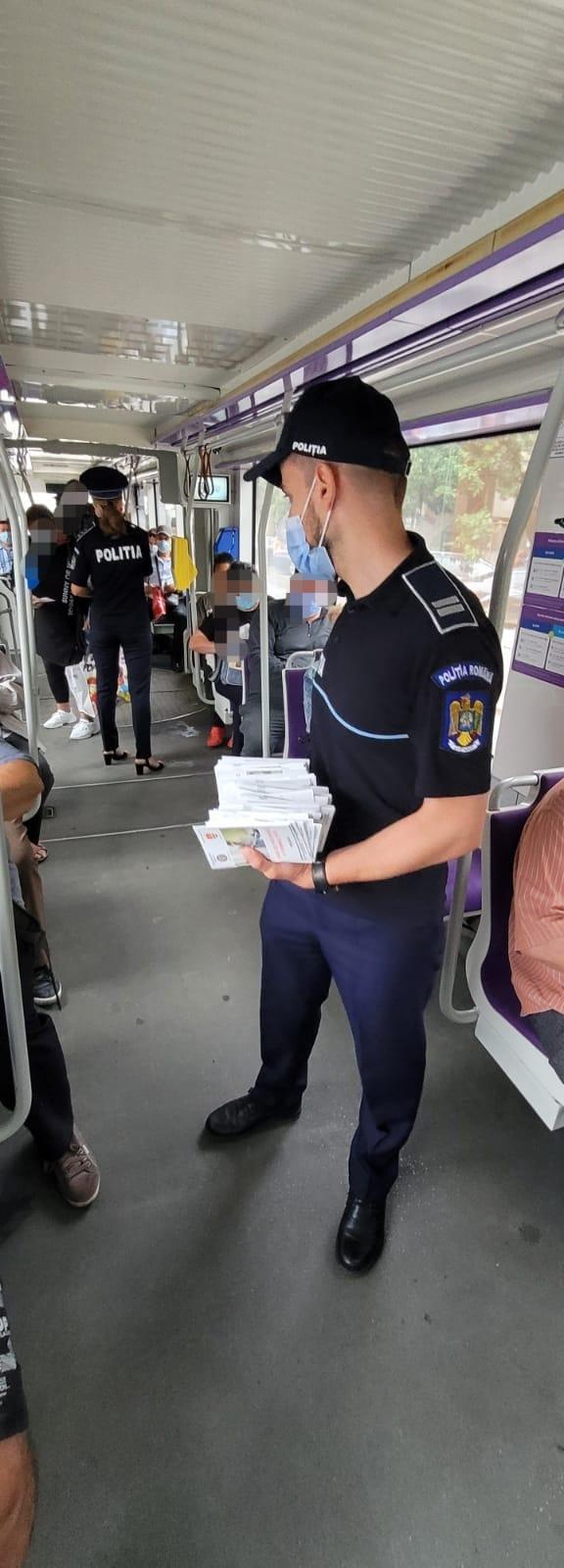 Acțiune pentru prevenirea furturilor din buzunare, în mijloacele de transport în comun din Timișoara