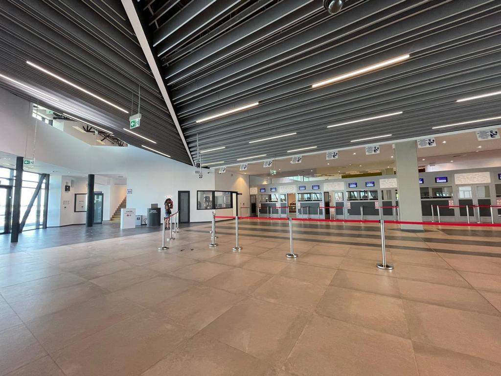 Noul terminal de Sosiri Externe de la Aeroportul Timișoara